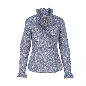 Bluse Alice Baumwoll-Paisley dunkelblau