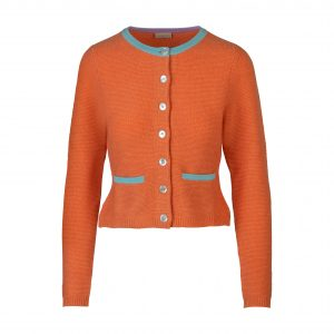 Cashmerestrickjacke orange
