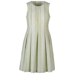 Kleid Saint Tropez Baumwoll Streif limette