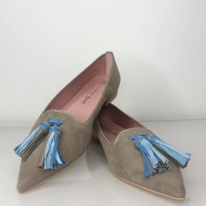 Loafer stein/hellblau
