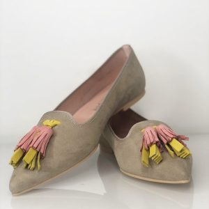 Loafer beige/gelb/pink