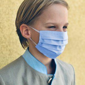 """Kinder 2er Set Nasen/Mundbedeckung ,,Hellblau"""" Sofort lieferbar"""
