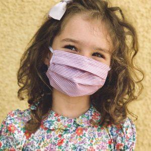 """Kinder 2er Set Nasen/Mundbedeckung ,,Rosa"""" Sofort lieferbar"""