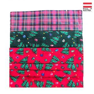 "3er Set Nasen/Mundbedeckung ,,Christmas"""