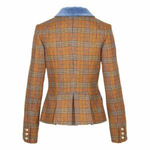 Jacke Dorothea Herbstkaro orange
