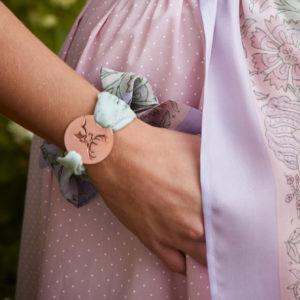Amulett-Armband in Flieder