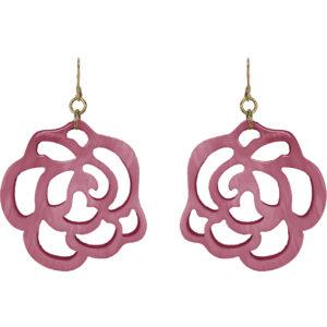 Hornohrringe Rose pink